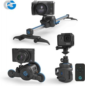 GripGear Movie Maker, The Directors Set - Electronic Camera Slider & Micro Dolly & 360° Panoramic Time Lapse System