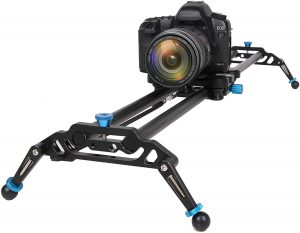 GVM Camera Slider, 31 Inches Electronic Manual Timelapse Camera Dolly Rail Slider , For DSLR Camera DV Video Camcorder Film Photography Load up to 15.4lbs