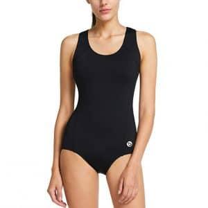 BALEAF Women's Conservative Athletic Racerback Swimsuit