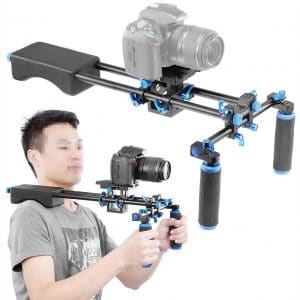 Neewer Portable FilmMaker System With Camera:Camcorder Mount Slider, Soft Rubber Shoulder Pad and Dual-hand Handgrip For All DSLR Video Cameras and DV Camcorders