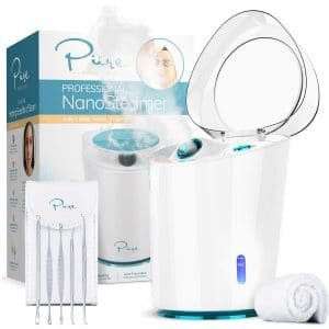 NanoSteamer PRO Professional 4-in-1 Nano Ionic Facial Steamer for Spas - 30 Min Steam Time - Humidifier
