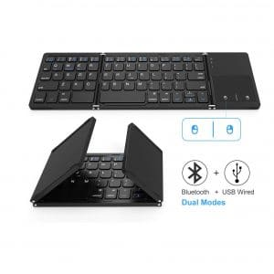 Jelly Comb Foldable Dual Mode Bluetooth Keyboard
