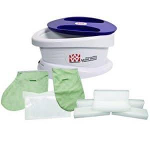 Waxwel Paraffin Wax Bath Unit w:Lavender Kit- Includes 6 lb Lavender Wax, 100 Liners, 1 Mitt, 1 Bootie