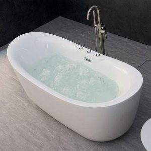 WOODBRIDGE 71 X 31.5 Whirlpool Freestanding Bathtub
