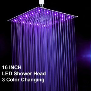 Fyeer 16-Inches LED Rainfall Shower Head