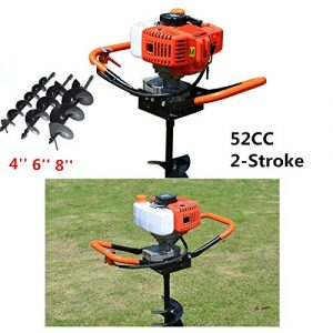 HYYKJ-US Gas Powered 52CC Post Hole Digger