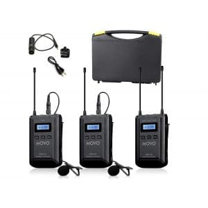 Movo 48-Channel UHF Wireless Lavalier Microphone