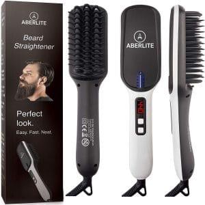 Aberlite Max Beard Straightener Brush for Men