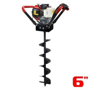XtremepowerUS V-Type, 2 Stroke Gas, powered 55CC Post Hole Digger