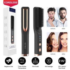ANLAN Cordless Hair Straightener Comb Hot Tools