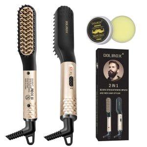 DOLIROX Multi-Functional Hair Styler Beard Straightener Brush