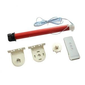 Morningrising 12V DIY Shade Tubular Electric Roller Blind with Remote Controller