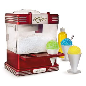 Nostalgia RSM602 Snow Cone Maker with Two Reusable Plastic Cups and Ice Scoop