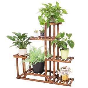 unho Wooden Plant Stand