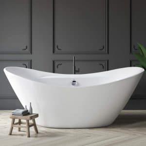 Ferdy 67-Inches Freestanding Bathtub Curve Edge