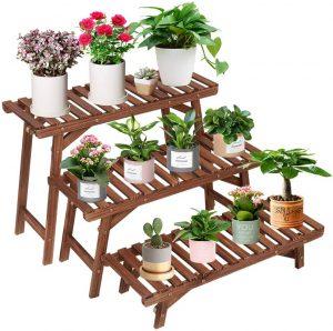 COOGOU Pine Wood Plant Stand