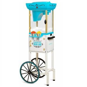 Nostalgia SCC399 Inch Tall Snow Cone Machine – White Blue