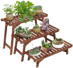 Ufine Pine Wood Plant Stand