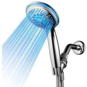 Dream Spa All Chrome Water Temperature 5-Setting LED Shower