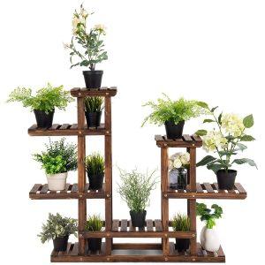 Giantex Flower Rack Wood Plant Stand
