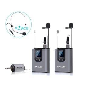 NASUM Wireless Lapel Microphone System