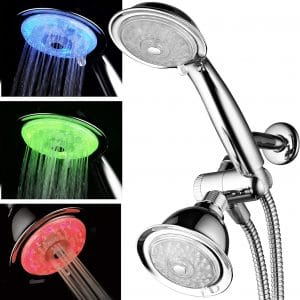 POWER SPA Luminex 7-Color LED Shower Head