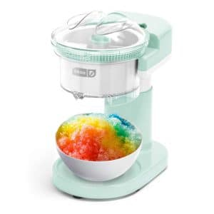 Dash DSIM100GBAQ02 Snow Cone Machine with Stainless Steel Blades, Aqua