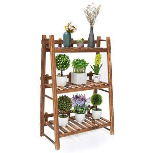 TOOCA Plant Stand Wood Indoor