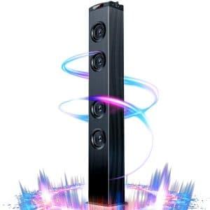 VENLOIC Floor Standing Bluetooth Tower Speaker