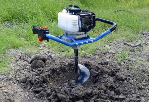 Gas Powered Earth post hole digger