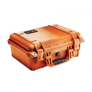 Pelican 1450 Orange Case with Foam
