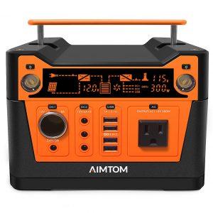 AIMTOM 300-Watt 280Wh Portable Power Station for Camping