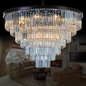 MEELIGHTING 24 Lights Crystal Chandelier Lighting