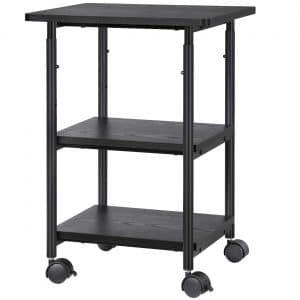 SONGMICS Adjustable Printer Stand Desk 3-Shelves