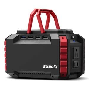 SUAOKI Portable 150Wh 100W Camping Generator Power Station with 4 USB Ports and Dual 110V AC Outlet