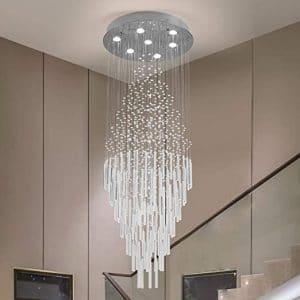Zgear Raindrop 7 Lights Crystal Chandelier Modern Light