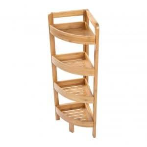 4 Tier Bamboo Corner Storage Shelf
