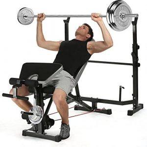 ANCHEER Weight Bench Set