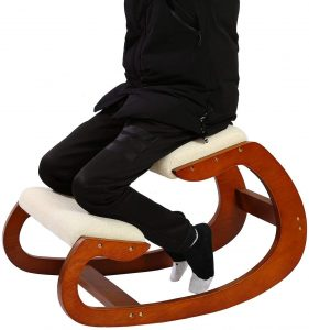 Predawn Kneeling Rocking Ergonomic Wooden Chair