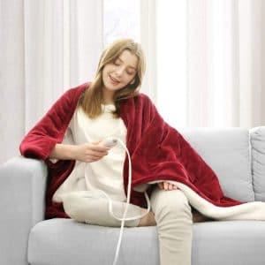 WAPANEUS Electric Heated Blanket 3 Heat Settings