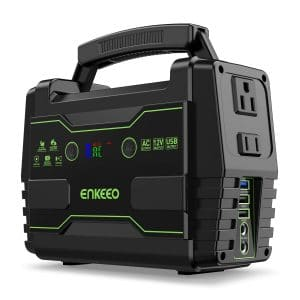 ENKEEO Power Station Backup Battery Pack 155 Wh Portable Charger Solar Generator for Outdoors