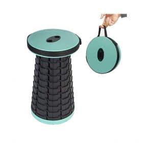 FSUTEG 287lbs Adjustable Plastic Retractable Folding Stool