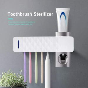 ALLOMN Toothpaste Dispenser and Toothbrush Sanitizer