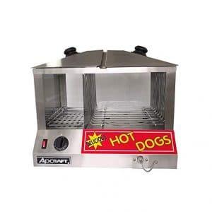Adcraft Commercial Hot Dog & Bun Steamer 1300W