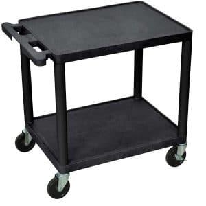 Luxor 26-Inches Mobile Multipurpose 2 Shelves AV Cart