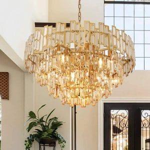 ANTILISHA Gold Crystal Chandelier Lighting