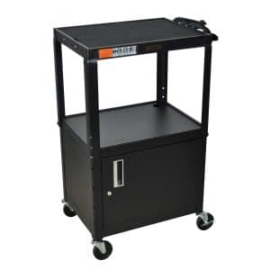 H WILSON Adjustable Height Cabinet AV Cart