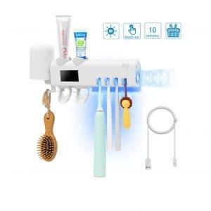 PXB UV Toothbrush Holder Two Toothpaste