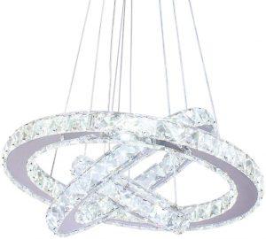 Dixun Modern Ceiling LED Fixture 3 Ring Chandelier Lights