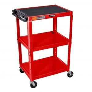 Offex Adjustable Height Steel Electric AV Cart